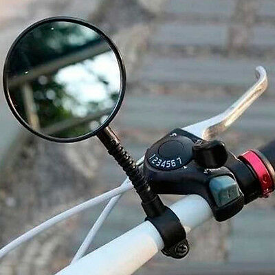 Flexible Bike Bicycle Cycling Rear View Mirror Handlebar Glass Safety DIY Tool