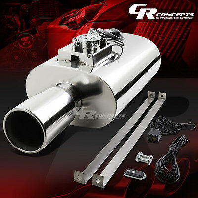 """Stainless Steel 3"""" Inlet Rolled Tip Muffler+Electronic Sound Control Silencer"""