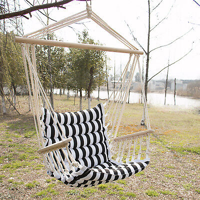 Hammock Hanging Rope Chair Porch Swing Seat Outdoor Camping Portable Patio New