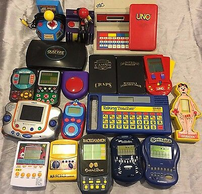 Huge Lot of 20 Electronic Handheld Radica Pac Man Games for Parts Not Working