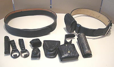 2 x  Leather Duty Belts plus accessories  Safariland / Gould & Goodrich 34