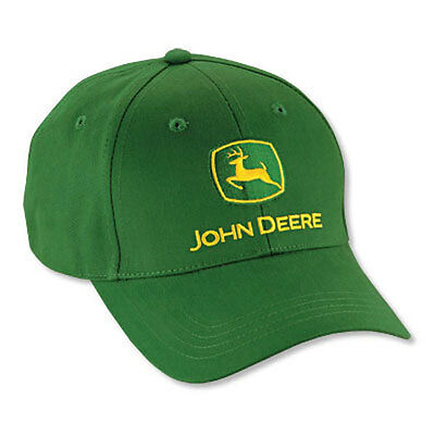 JOHN DEERE *TRADEMARK* =  GREEN Twill CAP HAT *BRAND NEW*
