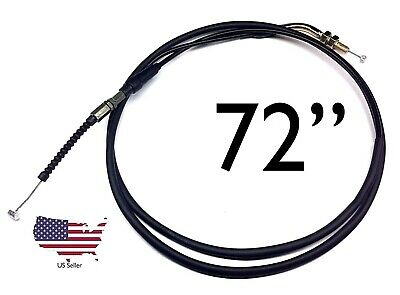"75"" Throttle Cable Universal Motorcycles Mopeds ATV Dune Buggy 72"" Mount"