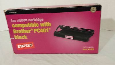 Black Fax Ribbon Cartridges Compatible with Brother PC401 157 ft (48 M)       -p