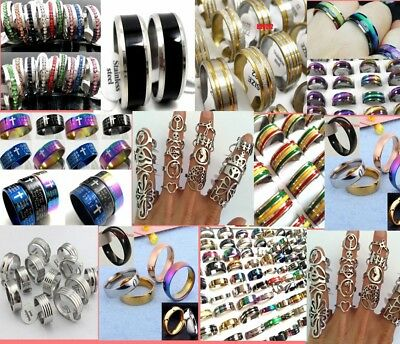 500 MIX desgin resale men women Stainless Steel Ring Wholesale Jewelry job lot