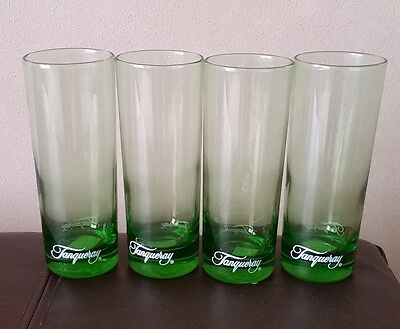 4 TANQUERAY Green Tom Collins Bar Glasses