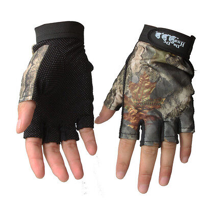 New Waterproof Antiskid Fingerless Fishing Hunting Gloves Sun Protection Glove