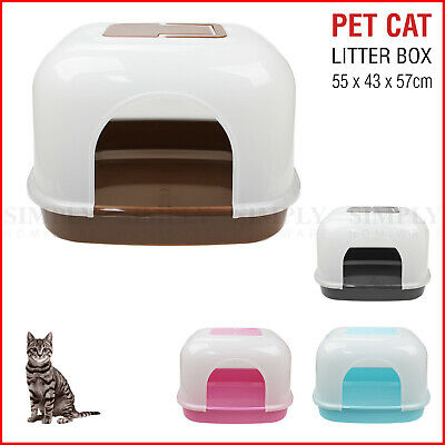 Cat Litter Box Kitty Boxes Large Tray Enclosure Dog Portable Toilet Scoop Spade