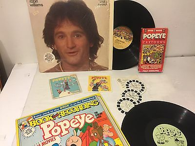 """""""popeye"""" The Sailor Man- Vintage Coll-Robin Williams-Comic-Records-Viewmasters"""