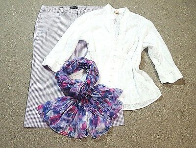 WOMEN'S PLUS SIZE CLOTHING Lot of 3 Size 16 XL Capri Top Scarf