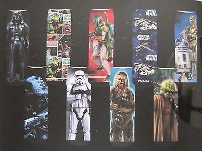 STAR WARS Boys Youth Socks 9 Pack Crew Length Assorted Novelty Sz 13-4 Bulk NEW