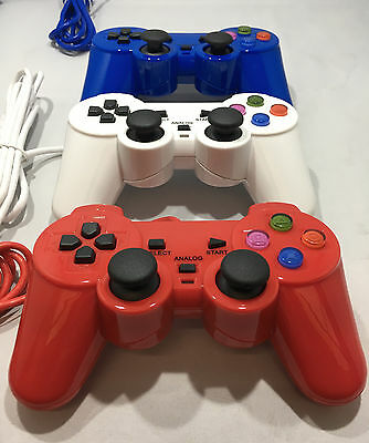 Dual Shock Vibrate Controller For The Playstation 2 - Brand New - Choose A Color