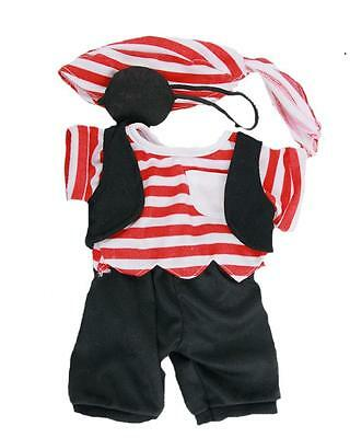 "Pirate Red Striped Cuddles Outfit For 16""/40Cm Teddy Bears & Build Your Own Bear"