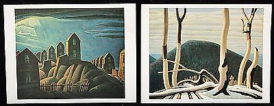 Vintage Lot of 2 LAWREN S. HARRIS Artwork Museum Souvenir Postcards *Unused*