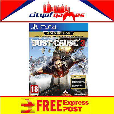 Just Cause 3 Gold Edition PS4 New & Sealed Free Express Post In Stock Now