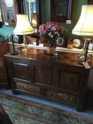 Antique Early 18th Century Oak Mule Chest/Coffer