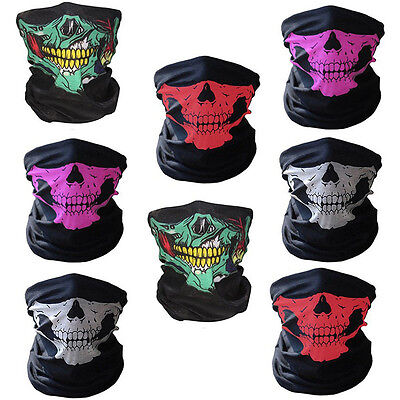 Skull Bandana Outdoor Bike Motorcycle Helmet Neck Face Mask Ski Headband Rakish