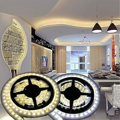 5M 10M 15M 20M 12V 3528 5050 5630 LED Flexible Strip Light Warm White Tape