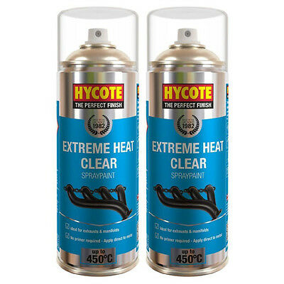 Hycote Very High Temperature Clear 2 Spray Cans Paint 400ml