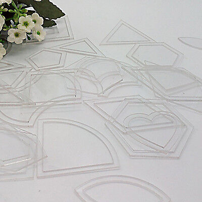 54pcs/27Set  Acrylic Quilt Quilting Template Ruler DIY Tool for Patchwork Craft