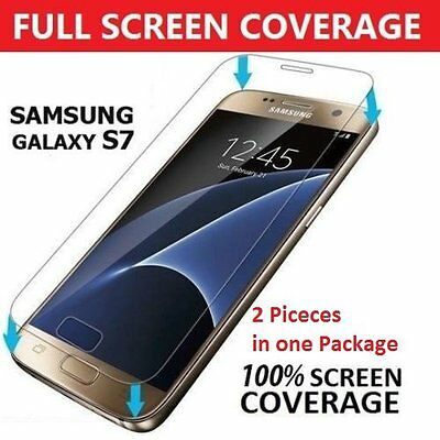 2x REAL TEMPERED GLASS FILM LCD SCREEN PROTECTOR FOR SAMSUNG GALAXY S7