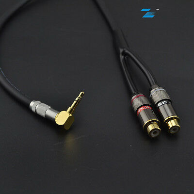Hi-Fi Stereo 3.5mm Male to 2×RCA Female Audio Cable Cord Y Splitter Adapter Jack