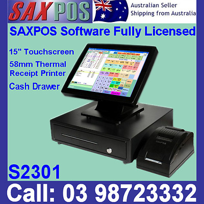 SAXPOS S2301 Touchscreen Basic POS System Point of Sale with Upgradable Features