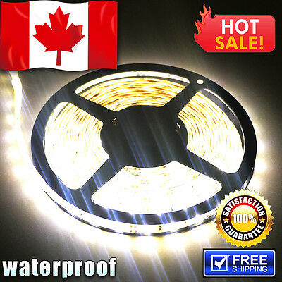 5M 3528 300 LEDs for Car Home Waterproof Flexible Led Strip Lights - Canada Ship