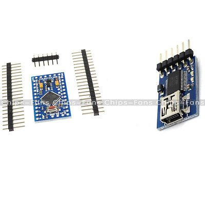 Pro Mini Atmega328 5V 16M Arduino Compatible FIDI FT232RL USB To Serial  Adapter