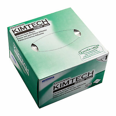 NEW Kimtech Kimwipes Delicate Task Wipers 4.4 x 8.4 (11x21cm) 280 sheets / Box
