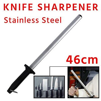 Best Diamond Knife Sharpener Sharpening Stainless Steel 31cm 12'' Stick Oval