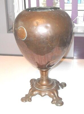 Antique Stylish Art Nouveau Arts & Crafts Copper & Brass Jardeniere Urn Planter
