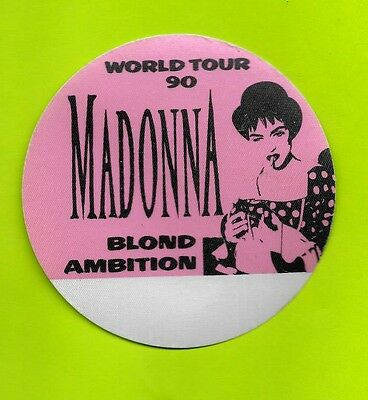 MADONNA 1990 crew backstage pass MINT / UNUSED round hot pink