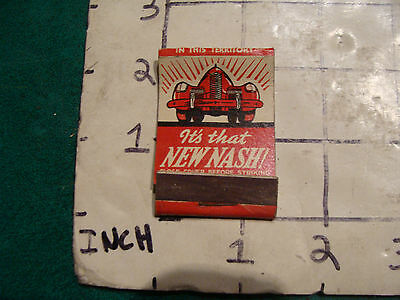 vintage Matches 1930's or 40's:  1939 NASH from Chase's Garage claremont NH