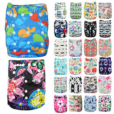 Baby Toddler Adjustable Washable Reusable Soft Cloth Diaper Pocket Nappy Cover