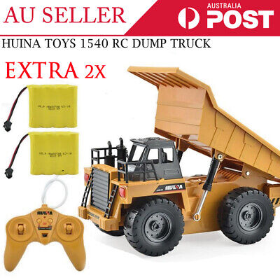 HuiNa Toys 1540 6 Channel 1/12 Metal Dump Truck Charging RC Car EXTRA 1x Battery