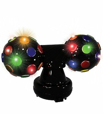 Doppel-Discokugel LED-Discoball 2 x Ø 13,5 cm Party Fun Lights Lampe