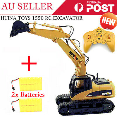 NEW HUINA RC Alloy Excavator RTR Bulldozer Car 1:12 2.4GHz 15CH EXTRA BATTERY
