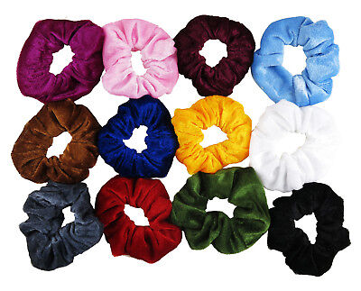 Velvet Scrunchie Hair Ties Pack of 1, 2 or 4 per Colour  Choose from 12 Colours