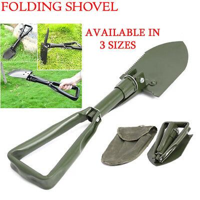New Foldable Spade / Shovel Portable Hiking Light Weight Compact w/ Storage Bag