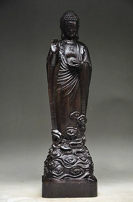 Unique Chinese Agarwood Wood Hand Carved Statue - Buddha