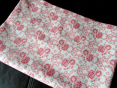 French vintage cotton fabric floral 100% cotton Art Deco floral pattern new cond