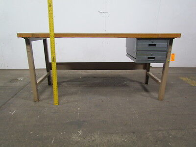 Industrial Workbench 1-3/4x30x72 Composit Top w/Laminate Cover 2 Drawer Lot of 2