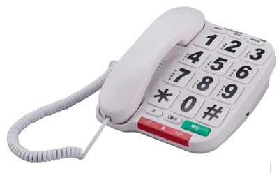 Opticom B300 Big Button Corded Telephone White RRP 10.99 lot GD 5012786230149
