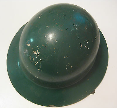 Vintage Green Hardhat Construction Ironworker Logger Miner Mining Forestry