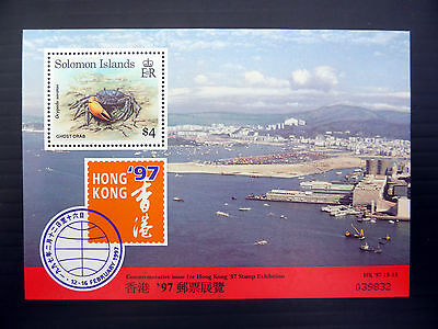 SOLOMON ISLANDS Wholesale 1997 $4 Crab M/Sheet x 50 NEW LOWER PRICE FP1082