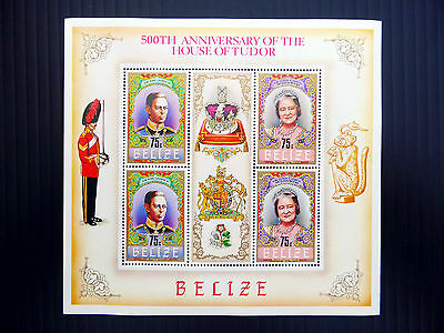 BELIZE Wholesale 1984 House of Tudor G.VI & Queen Mother Sheetlet x 10 FP2580