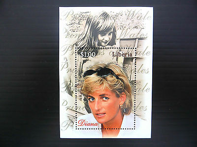 LIBERIA Wholesale Diana Young Portrait M/Sheet x 100 U/M NEW LOWER PRICE FP1142