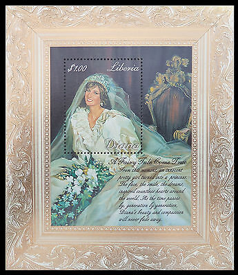 LIBERIA Wholesale Princess Diana Memoriam Min/Shts Wedding Dress x 100 CD 589