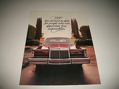 1980 Lincoln Continental Lincoln Continental Mk Iv Versailles Sales Brochure